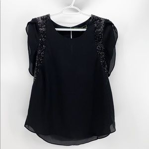 Love Stitch sequence black blouse